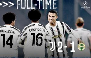 Juventus 2-1 Ferencvaros, Segui il Barca fino agli ottavi di Champions League